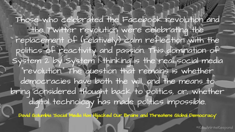 Quote via Social Media Has Hijacked Our Brains and Threatens Global Democracy