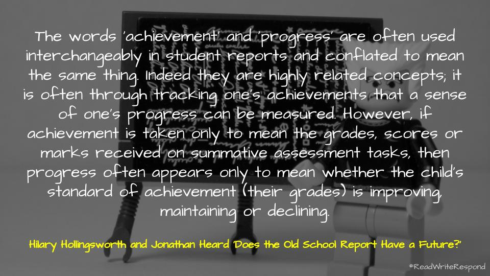 📑 Does the old school report have a future?
