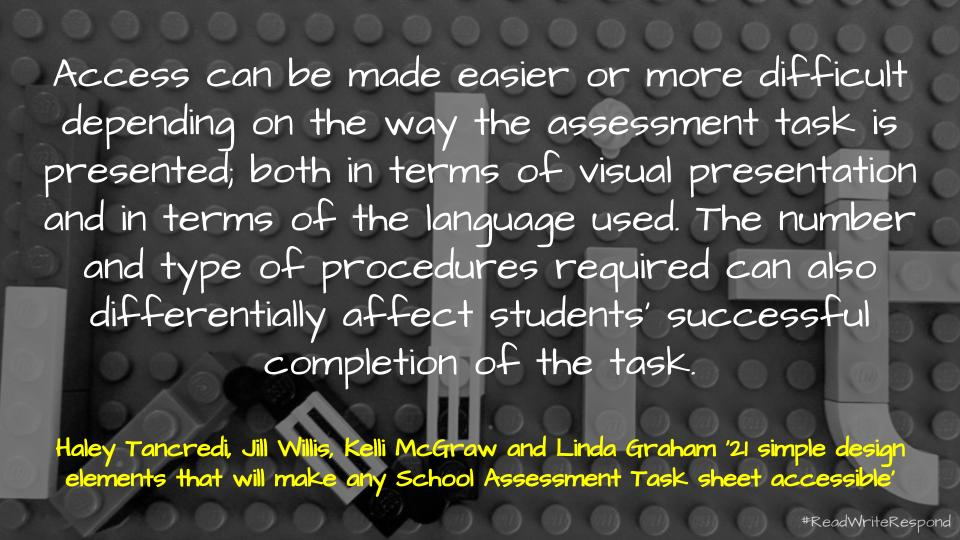 📑 21 simple design elements that will make any School Assessment Task sheet accessible