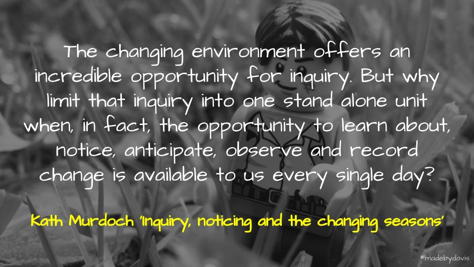 📑 Inquiry, noticing and the changing seasons… A tribute to the late Frank Ryan