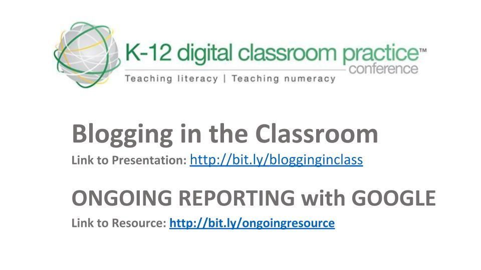 📅 K-12 Digital Classroom Practice Conference 2018