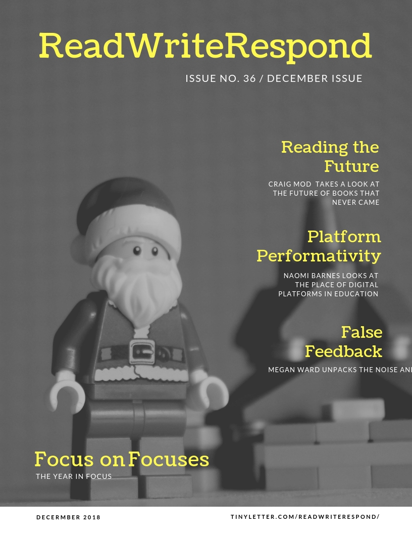 Cover for Read Write Respond #036 with a lego santa by JustLego101