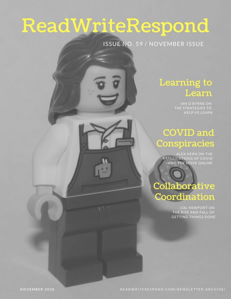 Cover for November's newsletter of ideas and information associated with all things education, mined and curated for me and shared with you.
